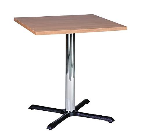 Roza rovere 50cm Square Compact piccola cucina tavolo da pranzo, base cromata
