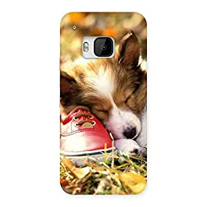 Enticing Cute Sleeping Puppy Back Case Cover for HTC One M9