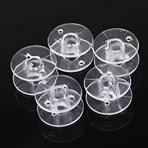 5pcs Clear Plastic Spools Bobbins For Brother Sewing Machine from SuntekStore Online