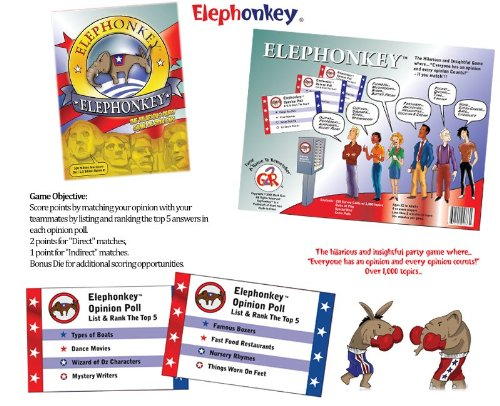 ELEPHONKEY The Hilarious Party Game of Opinion