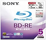 SONY 日本製 ビデオ用BD-RE 書換型 片面1層25GB 2倍速 プリンタブル 5枚P 5BNE1VBPS2