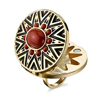 House of Harlow Round Coral Open Ring, Size 6 by