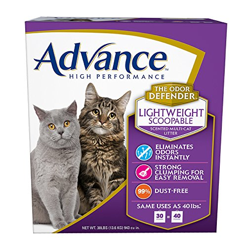 Advance High Performance Scented Lightweight Multi-Cat Litter Box, 30-Pound string (Free Advance compare prices)