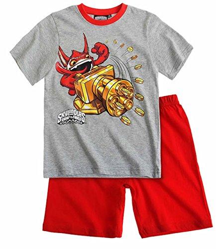 Skylanders Pyjama 2014 Kollektion 110 116 122 128 134 140 146 152 Shortie Shorty Kurz Jungen Sommer Neu Swap Force Schlafanzug L2 Grau-Rot (110 - 116)