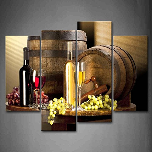 Various Wine With Grape Wall Art For Kitchen Painting Pictures Print On Canvas Food The Picture For Home Modern Decoration (Food And Beverage Wall Art compare prices)