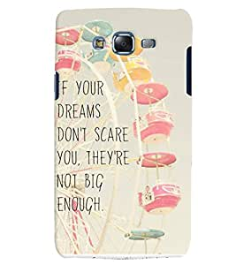 Citydreamz If your Dreams Don't Scare You They Are Not Big Enough/Quotes Hard Polycarbonate Designer Back Case Cover For Samsung Galaxy Grand 2 G7102