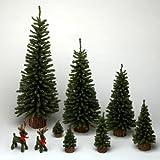 18″ Mini Pine Tree 242 Tips Wood Base