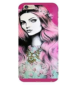 PrintVisa Beautiful Girl Art 3D Hard Polycarbonate Designer Back Case Cover for Apple iPhone 6 Plus