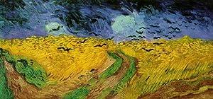 "6"" x 4"" Quality Art Paper Greetings Card Impressionist Art van Gogh Wheat field under threatening skies, 1890"