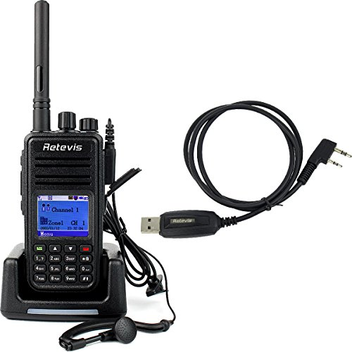 Retevis RT3 DMR Digital 2 Way Radio 1000CH UHF 400-480MHz 5W VOX Message Scrambler Digital Mobile Radio (Black) (Digital Ham Radio compare prices)