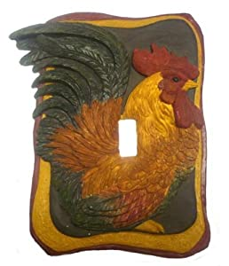 French Country Rooster Kitchen Decor Single Switch Plate