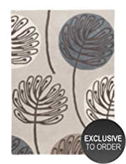 Contemporary Leaf Ultra Soft Rug