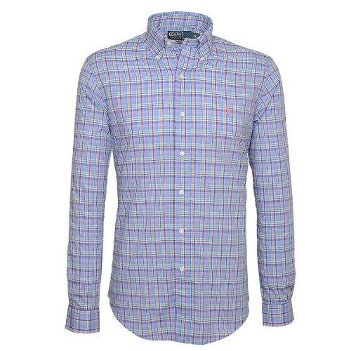 Ralph Lauren Custom Fit Casual Shirt In Blue - Size Xxl