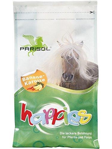 PARISOL Happies, Leckerli pour Chevaux - jus de carotte Banane - 1kg