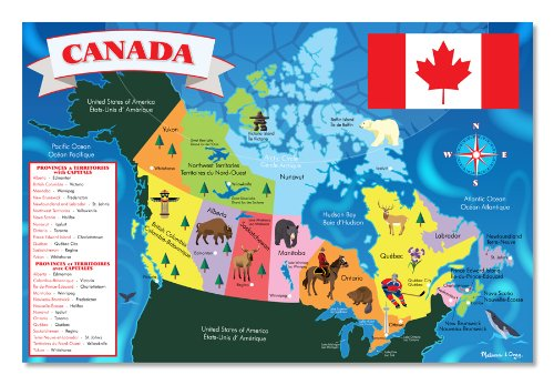 Canada Map 48pc Floor PuzzleCanada Map 48pc Floor Puzzle