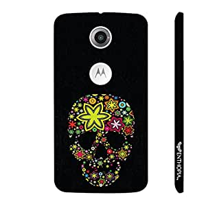Motorola Moto X2 2nd Gen Pimped up Skull designer mobile hard shell case by Enthopia