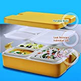 Cello Lunch Mate Thermoware Insulated Tiffin Box, Yellow