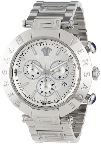 Versace Men's VA8010013 Reve Chrono Round Stainless Steel Date Watch