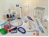 Chemistry Lab and Science Kit - Test Tubes, PH Strips, Agar, Petri Dishes, Slides and more