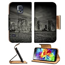 buy Stonehenge Black White Tone Landmark Samsung Galaxy S5 Sm-G900 Flip Cover Case With Card Holder Customized Made To Order Support Ready Premium Deluxe Pu Leather 5 13/16 Inch (148Mm) X 2 1/8 Inch (80Mm) X 5/8 Inch (16Mm) Msd S V S 5 Professional Cases Acce