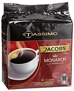 Jacobs Monarch, T-Discs for Tassimo Coffeemakers, 16-Count Packages (Pack of 2) from Tassimo