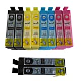 10 XL ColourDirect Compatible Ink Cartridges for Epson Expression Home XP102, XP202, XP212, XP215, XP205, XP30, XP302, XP305, XP312, XP315 XP402, XP412, XP415, XP405 Impresoras 4 Black 2 Cyan 2 Magenta 2 Yellow