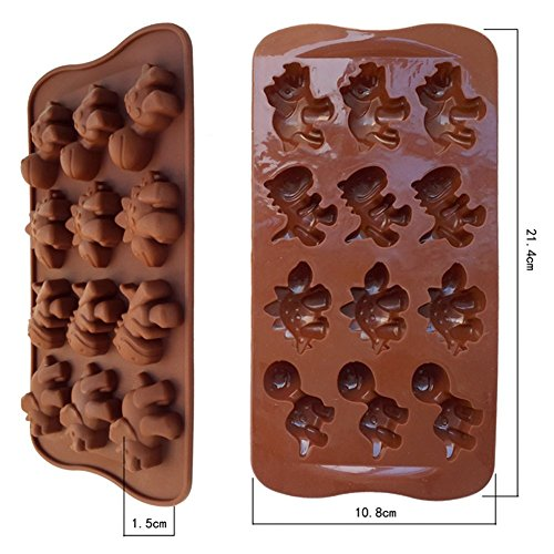 Moule Silicone 12 Moules A Muffins Dinosaure Pour Chocolat Gateau Biscuit Cookies