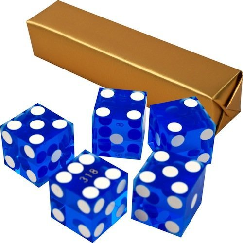 Lowest Price! Set of 5 Grade AAA 19mm Casino Dice with Razor Edges and Matching Serial Numbers by Br...