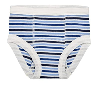 Under the Nile Egyptian Organic Cotton Stripe Print Training Pants, Blueberry Stripe from Under the Nile