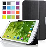MoKo Samsung Galaxy Tab 3 8.0 Case - Ultra Slim Lightweight Smart-shell Stand Case for Samsung Galaxy Tab 3 8.0 Inch SM-T3100 / SM-T3110 Android Tablet, BLACK (with Smart Auto Wake / Sleep Feature)