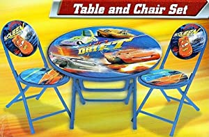 Disney Pixar Cars Table and Chairs Mcqueen 3-piece Folding Set