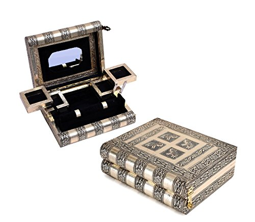 Mothers Day Gift Imperial Brass Plated Wooden Storage Box & Jewelry Organizer