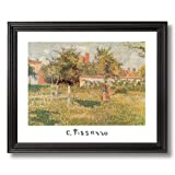 Camille Pissarro French Landscape Flowers Girl Woman Wall Picture Black Framed Art Print