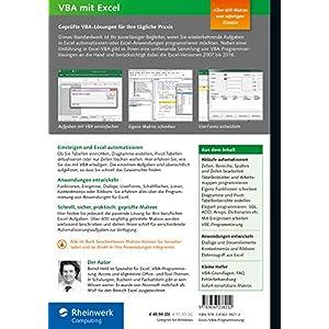 VBA mit Excel: Das umfassende Handbuch. Konzepte und Techniken der VBA-Programmierung. Das Standardw