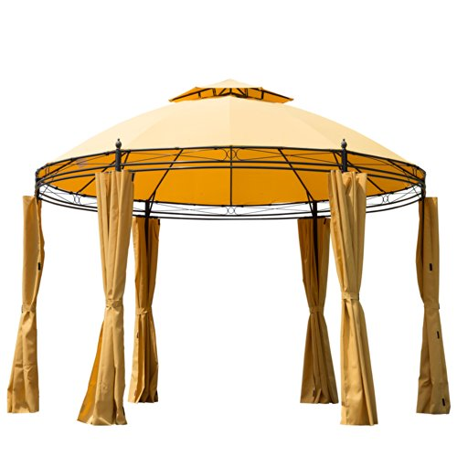 Outsunny Round Outdoor Patio Canopy Party Gazebo with ...