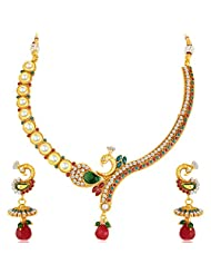 Sukkhi Peacock Gold Plated Kundan Necklace Set