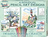 Dimensions Needlecrafts Paintworks/Pencil by Number, Beach Scenes Variety Pack