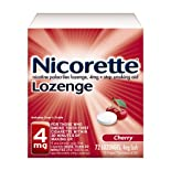 Nicorette Stop Smoking Aid, 4 mg, Lozenges, Cherry, 72 ct.