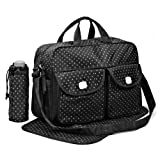 Black 3pcs Baby Diaper Nappy Changing Bag Set D:STAR Design