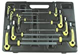 Astro Pneumatic 1026 Metric T-4 Handle Ball Point and Hex Key Wrench Set 9 PC. image