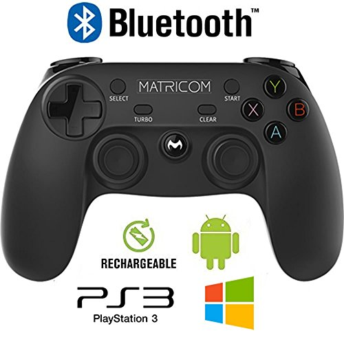 Matricom G-Pad XYBA Wireless Rechargeable Bluetooth Pro Game Pad Joystick Controller (Samsung Gear VR and G-Box Compatible!) (Bluetooth Game Controller Android compare prices)