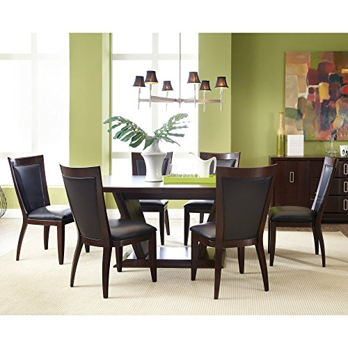Casana Brooke 7 Piece Rectangular Dining Table Set - Coffee, Brown, Okume Veneers