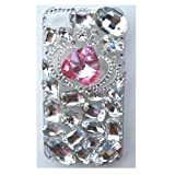EVTECH(TM) 3D Handmade Rhinestone Bling Crown Series Crystal Diamond Design Case Clear Cover for iPhone 5 / 5S T-Mobile Sprint AT&T Verizon(100% Handcrafted)