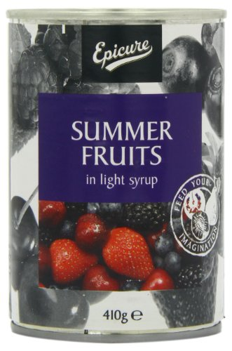 Epicure Summer Fruits in Light Syrup 410 g (Pack of 12)