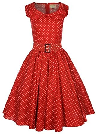Polka Dot Shawl Collar Swing Dress