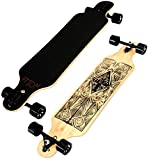 Atom Longboards Bamboo Drop Through Longboard, Tiki, 40-Inch