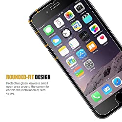 iPhone 6s Plus Screen Protector, JETech 2-Pack Premium Tempered Glass Screen Protector Film for Apple iPhone 6 Plus and iPhone 6s Plus Newest Model 5.5