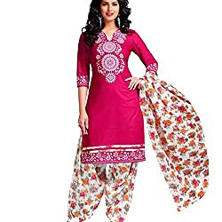 Shree Hari Creation Women's Poly Cotton Unstitched Dress Material (3843_Multi-Coloured_Free Size)