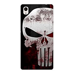 Impressive Bleed Red Skull Back Case Cover for Sony Xperia M4