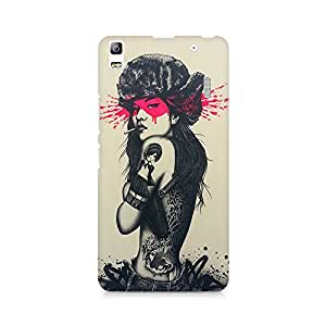 Mobicture Girl Abstract Premium Printed Case For Lenovo A7000